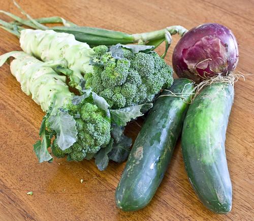 onion broccoli cucumber