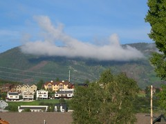 Cloud over Steamboat Springs