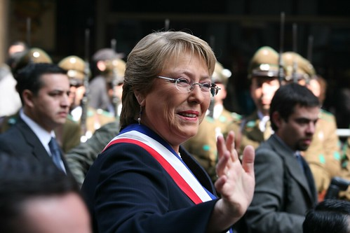 Michelle Bachelet at the House of Commons