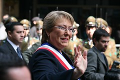 The President of Chile, Vernica Michelle Bachelet Jeria (Alex E. Proimos) Tags: bachelet chile life family army march republic background military president navy michelle plan center her parade domestic congress torture politician exile left protests affairs controversial sworn anticorruption jeria swornin excellency veronica proimos ministership alexproimos