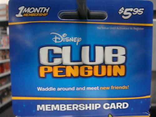 Club Penguin のプリペイドカード