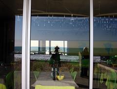 Look at me through the glass (Clara Ungaretti) Tags: barcelona beach window reflections lights restaurant spain europa europe barceloneta
