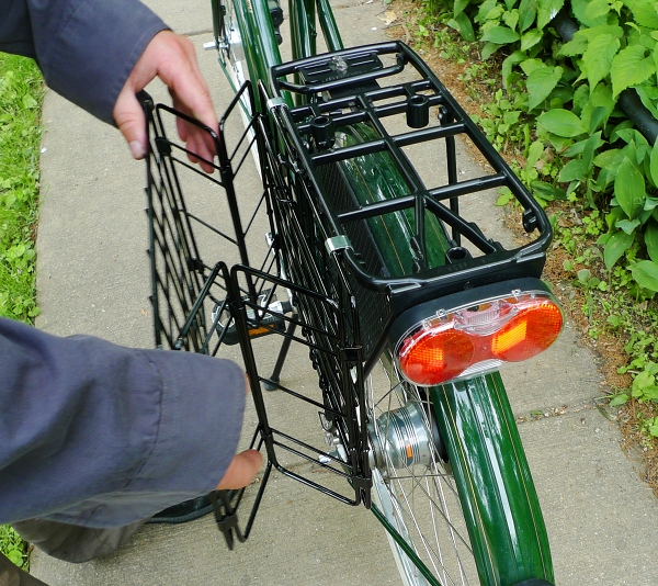 Bikes With Basket On Back The baskets lie flush with the