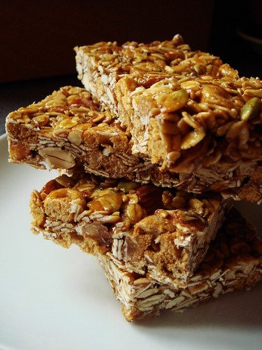 Chewy Ginger-Cardamom Granola Bar