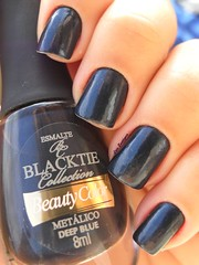 Deep Blue - Beauty Color (Lais Eustquio) Tags: blue azul nail deep nailpolish unha esmalte metalico beautycolor backtie