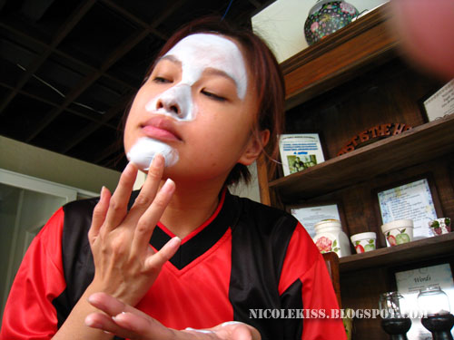applying on chin