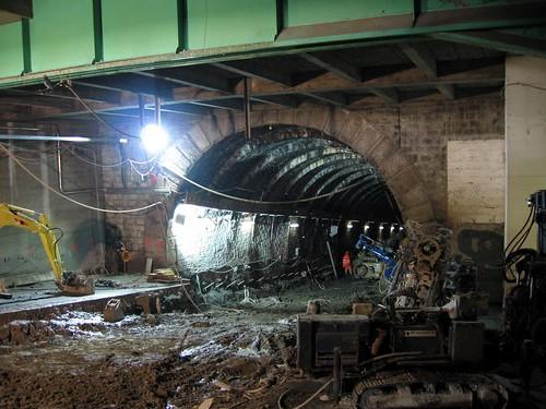 Lausanne Metro M2 construction