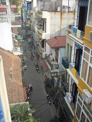 View from roof of Hanoi Backpackers
