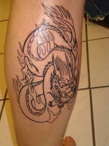 dragon tattoo outline
