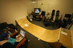 college dorm halfpipe (MatthewRobert) Tags: wood college living ramp room dorm humor pipe skate half vcu gnar yellowsick