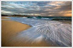Waimanalo Beach at Sunrise (Rex Maximilian) Tags: ocean sea sky beach clouds sunrise hawaii waves oahu shore waimanalo windward rabbitisland mananaisland