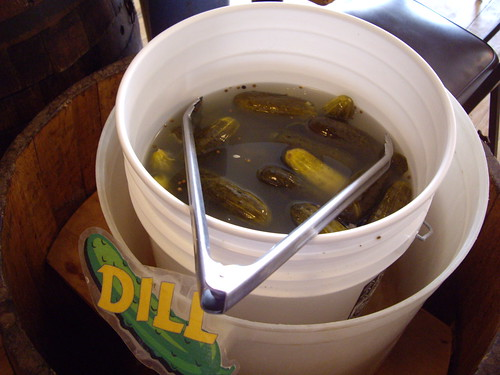 Dill Pickle Bucket at Katzinger's
