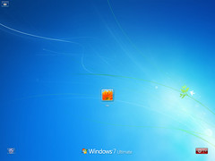 windows 7 Build 7057 登入畫面
