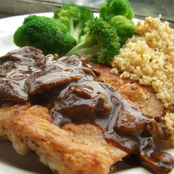 Chicken Chop with Wild Mushroom Sauce