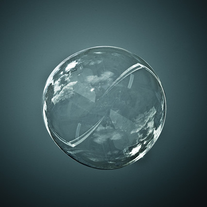 Cuba Gallery: Bubble world with cloud reflection