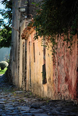 Cobblestone Street in Colonia, Uruguay (Yelena_YK) Tags: old travel building history colors architecture rural uruguay photography town nikon exterior place pastel famous culture nopeople scene unesco cobblestones spanish colonia steet worldheritage destinations portugues coloniadesacramento nikond80 streetsofcolonia