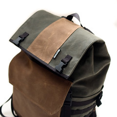 Waxed Canvas Backpack (Adam A.) Tags: bike bag handmade stripes backpack messenger custom courier explored waxwear zugster waxedcanvas