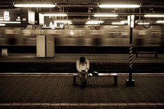 Lonely Passenger II (Flash Parker) Tags: station subway alone sleep korea lonely passenger suwon gettyimageskoreaq1