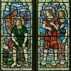 Fishers of Men window (robin.croft) Tags: church wales fishermen stainedglass stjohn anglican stpeter rct saintjohn saintpeter fishersofmen elvan rhonddacynontaff aberdare stelvans celticstudios