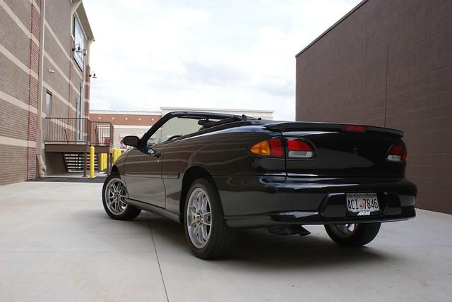 black chevrolet convertible chevy 1998 cavalier ragtop z24
