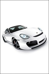 Car Iphone wallpaper Porsche Cayman white free download