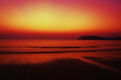 Perfect - Langkawi Island, Malaysia (yumyumchickenfeet) Tags: sunset red sea reflection yellow night malaysia langkawi