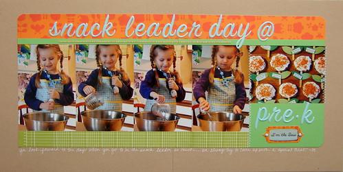 Snack Leader Day @ Pre-K