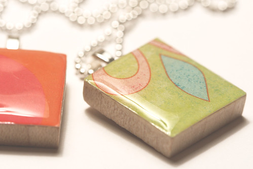 85/365: Scrabble Tile Pendants