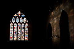 Late Evening Colours (Bob Small photography.) Tags: uk light england sun sunlight west church window glass colors saint st nikon andrews colours britain somerset stainedglass stained d200 standrewschurch westsomerset stogursey