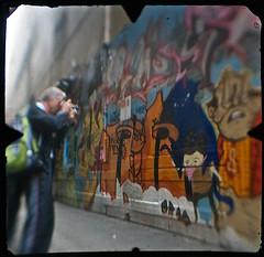 Streetart Union Lane, Melbourne CBD (TTV-090320-1799-H) (heritagefutures) Tags: street camera city light urban streetart colour pasteup art retail wall modern bar work shopping photography graffiti stencil alley chat paint gallery place wine contemporary pas