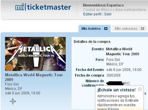 Metallica en Mexico 2009