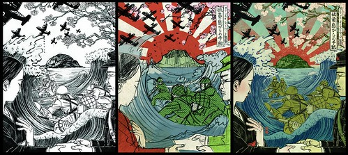 Iwojima (drawing, sketch and final) - Yuko Shimizu