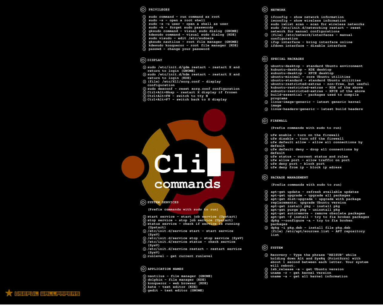 linux terminal commands wallpaper