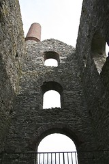 Interior of Baronets engine house. (john durrant) Tags: uk chimney brick cornwall interior arches stack granite coppermine tinmine redruth kernow quoins whealamelia pennanceconsols carnmarth baronetsenginehouse