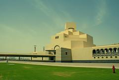 Doha's Islamic Arts Museum /      (qatari star) Tags: bridge sky art museum garden star islam arts soe islamic doha qatar   qatari   theunforgettablepictures
