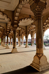 Diwan-I-Am / Hall of Public Audience (nickphotos) Tags: red india architecture hall nikon fort columns agra arches shah 1755 jehan mughal diwaniam f28g theindiatree