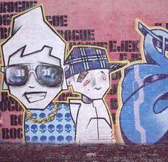 chav boys. (rogue-one) Tags: street flowers girls urban streetart art dogs basketball comics graffiti 3d goldfish graphic skateboarding evil style tags spraypaint rogue fridaythe13th hoodlums stylewars clydeside rogueone hellosticker hoodys ukgraffiti worldgraffiti