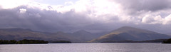 Loch Lomond from path between Balmaha and Milarrochy (davidmcnuh) Tags: cloud sun mountain lake water scotland hill loch lochlomond balmaha milarrochy