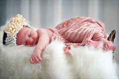 Pink and Flowers (zuilma) Tags: pink flowers baby cute girl basket sleep newborn top20childrensportraits zuilma memorycornerportraits