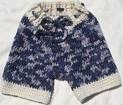 Crocheted Malabrigo Wool Board Shorts (Medium)