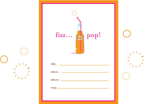 imaginary fizz pop party invite