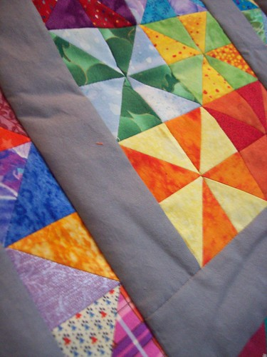 Pinwheel Doll Quilt in Progress