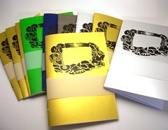Booklets with new lino print