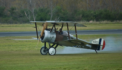 Warbird picture - Sopwith Camel taking off, Masterton, New Zealand, April 2009