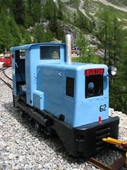 Ruston No.62 at Chateau d'Eau (Jeremy R. Hartley) Tags: train switzerland diesel railway gauge montblanc ruston narrowgauge chatelard emosson decauville