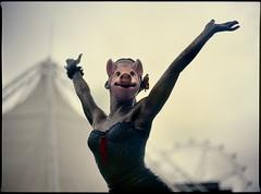 kylie causes swine flu (mugley) Tags: portrait sculpture 120 film armpit statue bronze mediumformat 645 fuji dof bokeh overcast australia melbourne slide victoria tent epson docklands backlit velvia100 6x45 e6 mamiya645 kylieminogue wideopen v700 swineflu h1n1 pigmask mamiya645protl waterfrontcity m645 fujichromevelvia100rvp southernstarobservationwheel 80mmf19sekorc ourkylie influenzaporcina pigfluenza lamepopstar