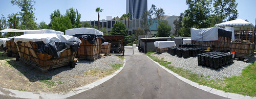 la brea tar pits panorama - pit 91 compound