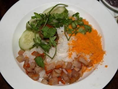 Rice dish at Quan An Ngon