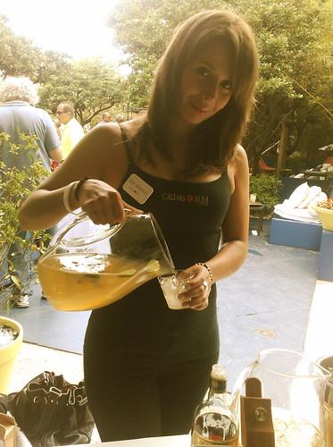 caldas rum pouring mojito rum renaissance festival miami