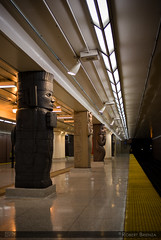 Museum Station (Robert Brienza) Tags: city urban toronto canada station architecture train subway ttc transportation subwaystation a100 lightroom amount museumstation sonyalphaa100 citybuild